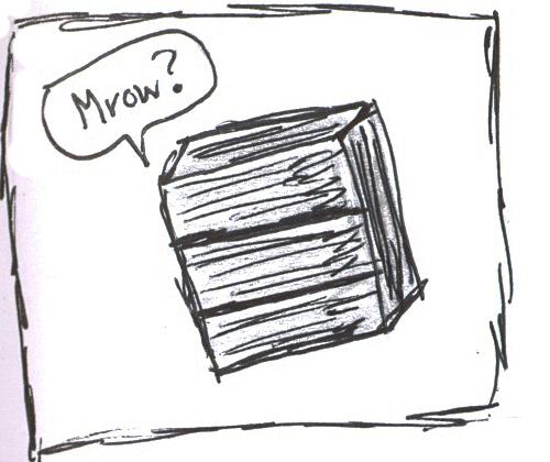 my cat trapped in a dresser